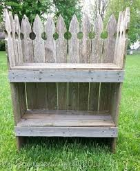 Reclaimed Picket Fence Garden Shelf My Repurposed Life Rescue Re Imagine Repeat