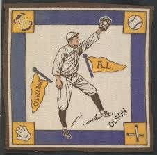 Ivy Olson, Cleveland, American League from Baseball Players Felt Blanket  series (B18) | The Met