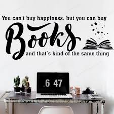 Book Quote Wall Vinyl Sticker Kids Room Wall Decal Reading Room Library Wall Decal Book Shopremovable Art Mural Hj423 Wall Stickers Aliexpress