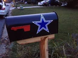 Dallas Cowboys Mailbox Decal 2 Pack Bonus Sticker For Sale Online