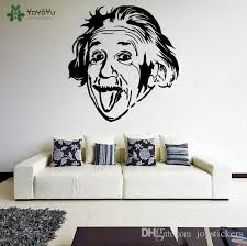 Wall Decal Vinyl Sticker Albert Einstein Sticking Out His Tongue Crazy Funny Face Art Home Decoration Mural Diy Poster Polka Dot Wall Decals Pretty Wall Decals From Joystickers 15 02 Dhgate Com