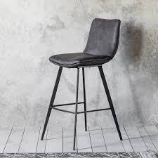 henley faux leather bar stool grey 2