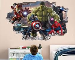 Superhero Wall Decal Etsy