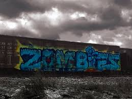 Graffiti Wall Decal Train Wall Decal Train Graffiti Decal Vinyl Wall Decal Removable Decal Zombie Decal Zombie Graffiti By Abby Smith
