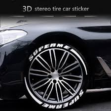 Super Deal 4 Set Letter Tire Sticker Modified Car Styling 3d Logo Car Stickers Rubber Car Decal Personalized Audi Sticker Sale Micropub Online Shop Review