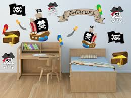 Pirate Ship Wall Decals Kids Wall Stickers Peel And Stick Etsy