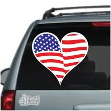 American Flag Heart Decals Stickers Decal Junky