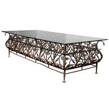 large size wrought iron and glass top