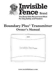 Boundary Plus Transmitter Manualzz