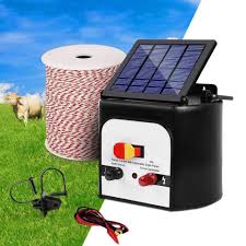 8km Solar Electric Fence Energiser Charger With 500m Tape And 25pcs In Click To Pet