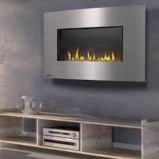 wall hanging linear gas fireplace