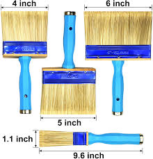 Amazon Com Kingorigin 3 Pack 4 5 6inch Heavy Duty Professional Stain Brush Paint Brush Paint Brushes Double Thick 1 2 Inch Fence Brush Paint Brush For Walls Painters Paint Brush Home Kitchen