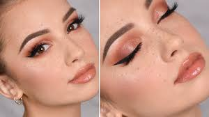 glam makeup tutorial fake freckles