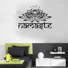 Idfiaf India Namaste Word Religion Wall Stickers Decal Vinyl Lotus Yoga Buddha Ganesha Bedroom Home Decorative Flower Mural Room Wall Decals Room Wall Stickers From Good Co Ltd 16 57 Dhgate Com