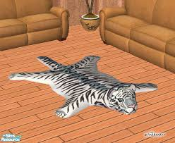 windkeeper s faux white tiger skin rug