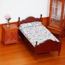 Follure Dollhouse Furniture Mini Bed Set Miniature Living Room Kids Pretend Play Toy Walmart Com Walmart Com
