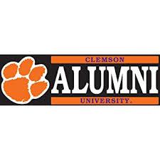 Amazon Com Clemson Tigers Clemson Alumni Vinyl Decal Car Truck Clemson Sticker Everything Else