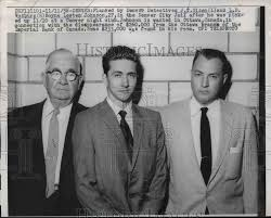 1958 Press Photo Boyne Lester Johnson,flanked by Ottawa, Canada Detect |  Historic Images