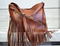 leather fringe purse fringed handbag