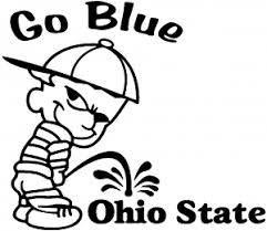 Go Blue Pee On Ohio State Car Or Truck Window Decal Sticker Or Wall Art All Time Auto Graphics