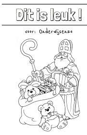 Onderwijs En Zo Voort 1844 Sinterklaas Kleurplaten