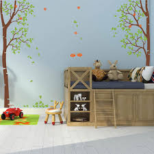 Nursery Autumn Birch Tree Wall Decal With Ladybugs Nursery Large Tree Wall Sticker With Ladybugs Nursery Tree Wall Art 871t Buy At The Price Of 99 50 In Aliexpress Com Imall Com