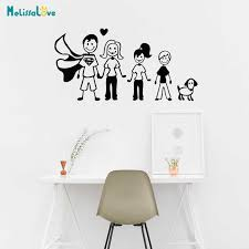 Happy Family Dad Mum Son Daughter Dog Car Sticker Rear Windshield Home Wall Sticker Waterproof Bedroom Baby Room Decal T035 Wall Stickers Aliexpress