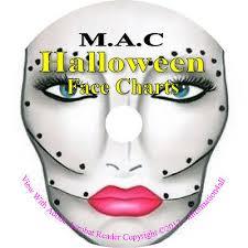250 mac makeup face charts