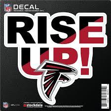 Amazon Com Stockdale Atlanta Falcons Rise Up 6 Decal Flat Vinyl Reusable Repositionable Auto Home Football Sports Outdoors