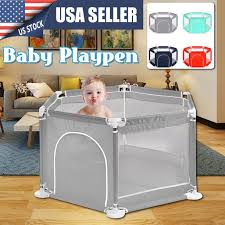 6 Sided Baby Fence Playinghouse Baby Playpen Interactive Kids Toddler Room Safety Play Yard With Safety Gate For Children Baby Kids Pool Without Balls Walmart Com Walmart Com