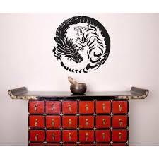 Asian Art Wall Stickers Tiger Dragon Yin Yang Wall Decal