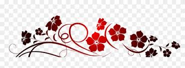 Red Flowers Decoration Png Clipart Vsgraphics Llc Flora Flowers Vinyl Wall Decal Art Free Transparent Png Clipart Images Download