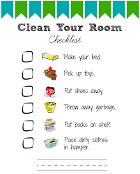 Printable Room Cleaning Checklists For Kids Views From A Step Stool