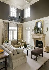 two story fireplace family room living