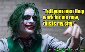 joker quotes explain about the maniacal antagonist comic