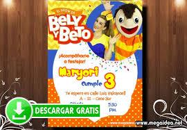 Bely Y Beto Invitaciones Para Editar Mega Idea