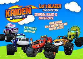 Blaze And The Monster Machines Birthday Invitations Fiesta