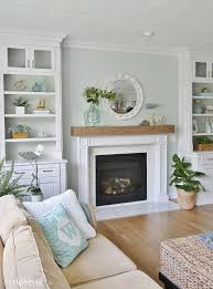 family room and fireplace makeover