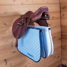 wall mount saddle rack with double pad