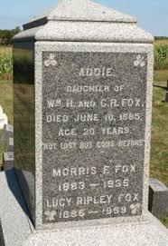 Addie Fox (1844-1865) - Find A Grave Memorial