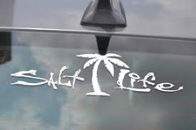 Salt Life Car Decal Window Decals Vinyl Art Wall Stickers