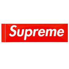 Supreme Box Logo Vinyl Sticker Lacedup