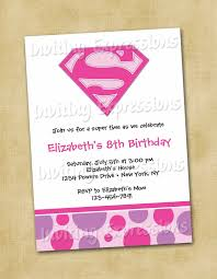 Super Girl Superhero Birthday Invitations By Invitingexpressions