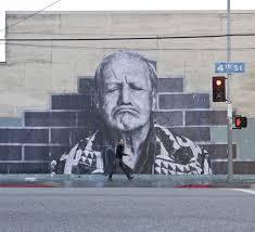 street artist jr does l a faces pop up