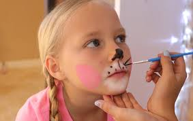how face paint bunny whiskers kids