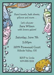 bridal bath shower invitation