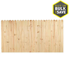 Severe Weather 4 Ft H X 8 Ft W Pressure Treated Pine Dog Ear Fence Panel In The Wood Fence Panels Department At Lowes Com