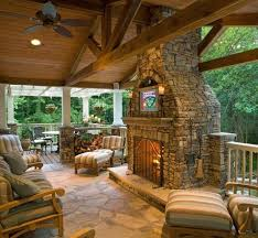 porch fireplace