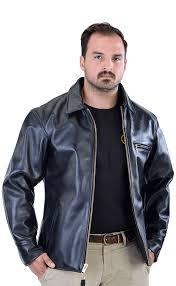 leather work coat and barn jacket