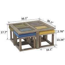 coffee table with stools com ok